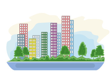 smart city graphic design, vector illustration