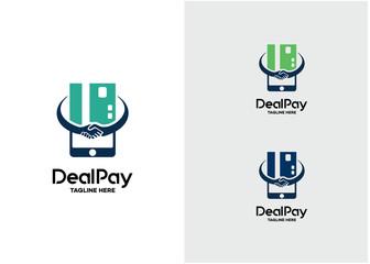 Deal Pay Logo Template Design Vector, Emblem, Design Concept, Creative Symbol, Icon