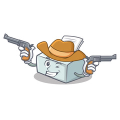 Cowboy printer character cartoon style