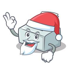Santa printer mascot cartoon style