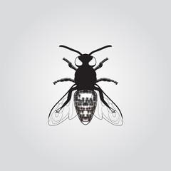 Honey Bee Logo Template Vector Icon
