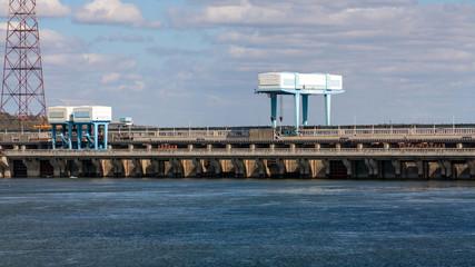 Volga dam near the city of Balakovo
