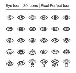 eye line icon,editable stroke,pixel perfect icon