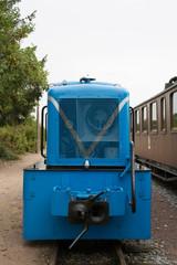 blaue diesel rangierlok