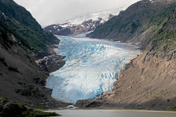 Salmon Glacier near Hyder, Alaska and Stewart, Canada, the glacier is located right on the canadian side of the booarder in British Columbia, Canada