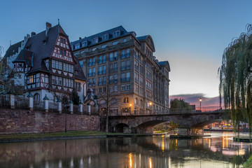 View of Strasbourg France the river