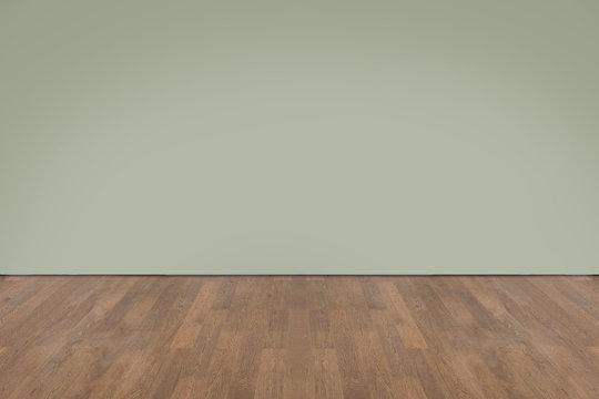 Walnut wood floor with wall background