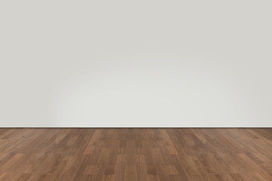Walnut wood floor with wall background