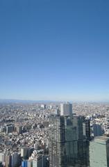 東京のビルと街並み-俯瞰