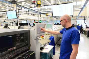 production and assembly of microelectronics in a hi-tech factory