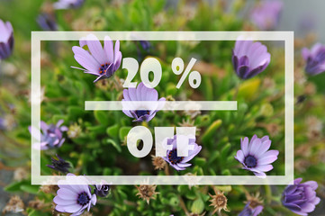 Obraz Spring sale 20 percent - fototapety do salonu