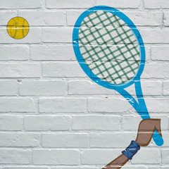 Graffiti, tennis