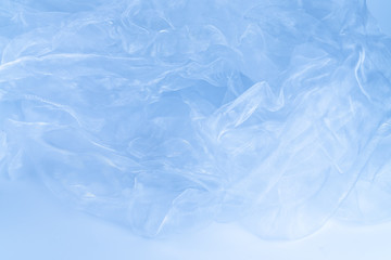 Transparent fabric background in blue color