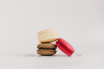 macarons with coffee and berry filling