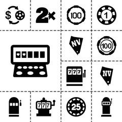 Jackpot icons. set of 13 editable filled jackpot icons