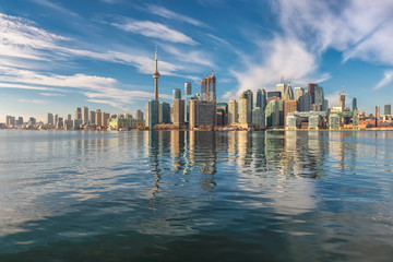 Wall Murals Toronto Beautiful Toronto City skyline on sunny day, Toronto, Ontario, Canada.