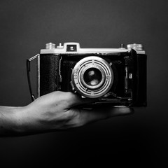 black and white photos off vintage cameras