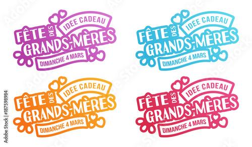 Idee Cadeau Fete Grand Mere.Fete De Grands Meres 2018 Idee Cadeau Stock Image And
