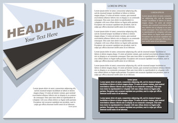 Brochure flyer design layout template size a4, isolated editable