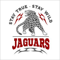 Jaguar and Flame - vector logo.