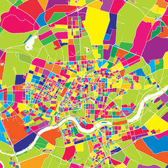 Shenyang, China, colorful vector map