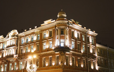 Majestic Russian architecture in St. Petersburg.