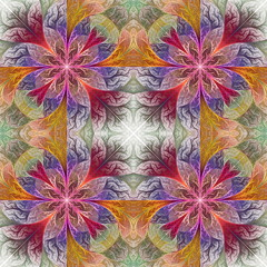 Fabulous seamless background in mosaic style. You can use it for invitations, notebook covers, phone cases, postcards, cards, wallpapers and so on. Artwork for creative design.