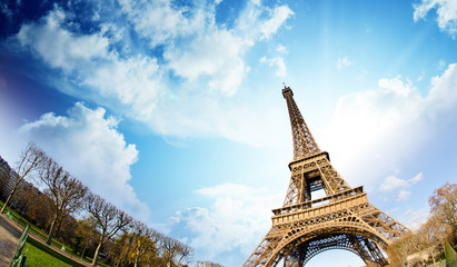 Fotomurales - Sky Colors over Eiffel Tower, Paris