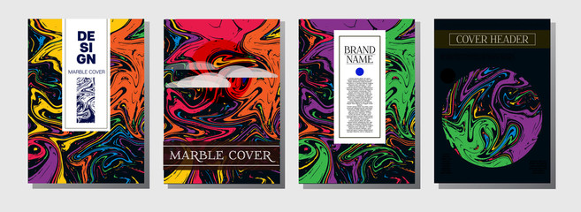 Modern Magazine Cover Template. Business Invitation, Cool Marble Product Design. Nice Japanese Liquid Paint Corporate Identity. Luxury VIP Gift Certicifate Presentation Magazine Cover Design.