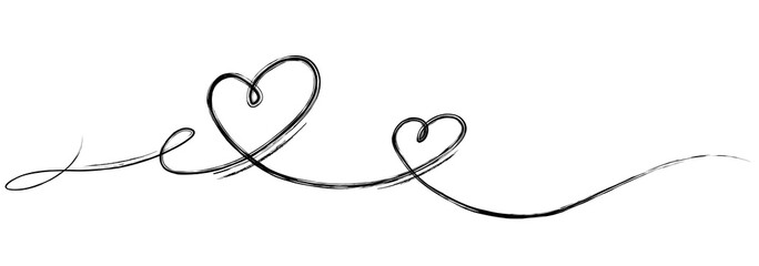 Valentin's Day Hearts calligraphy