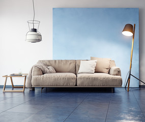 modern room interior.