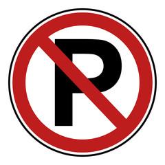 Verbotsschilder Icon - Parkverbot