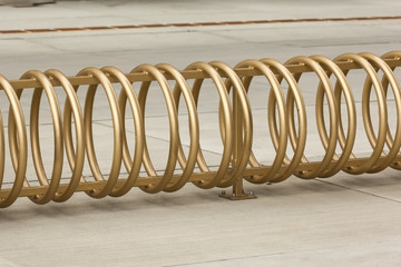 Bicycle Rack in Golden Color