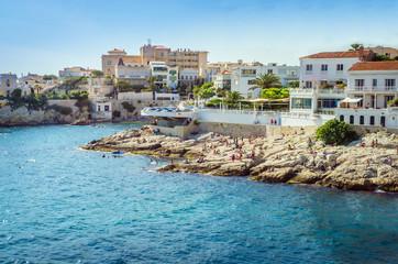 Beautiful coast of Marseilles, France