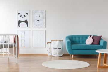 Sofa in baby room