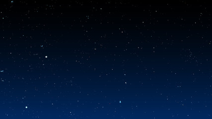 Bright stars on dark night sky. Vector