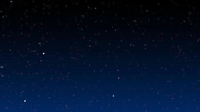 Bright stars on dark night sky. Vector