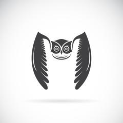Vector of an owl design on white background. Bird. Wild Animals. Vector illustration.