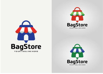 Bag Store Logo Template Design Vector, Emblem, Design Concept, Creative Symbol, Icon