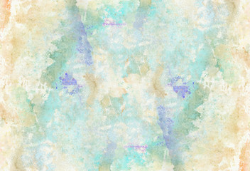 Abstract watercolor splash paper background. Colorful decorative texture.