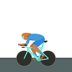 Vector illustration of an athlete cyclist in motion.