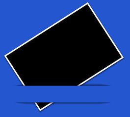 fond noir pour photo sous bandeau bleu