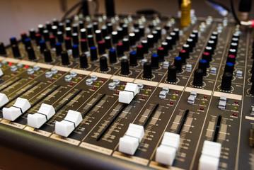 Sound control, mixer.