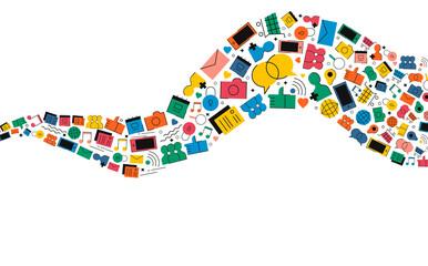 Social media internet icon shape illustration