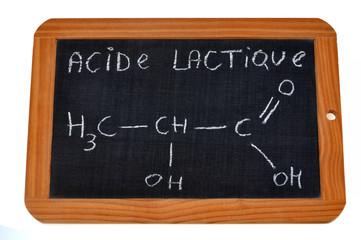 Formule chimique de l'acide lactique