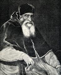 Portrait of Pope Paul III by Titian (from Spamers Illustrierte  Weltgeschichte, 1894, 5[1], 346)