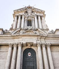 The Church of Santi Vincenzo e Anastasio a Fontana di Trevi in Rome, Italy