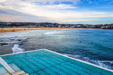 Bondi Beach and swimming pool, Sidney, Australia