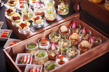 Buffet catering, on the table