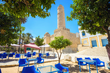 Ancient fortress with high tower. Sousse, Tunisia, North Africa